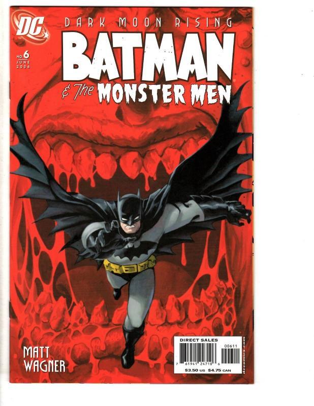 Lot Of 6 Dark Moon Rising Batman & The Monster Men # 1 2 3 4 5 6 DC
