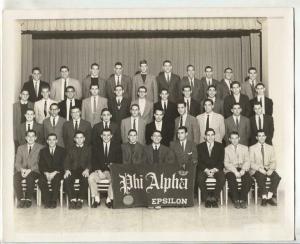 Phi Alpha Beta Epsilon College Fraternity Photo 1960's-8 x 10-VG