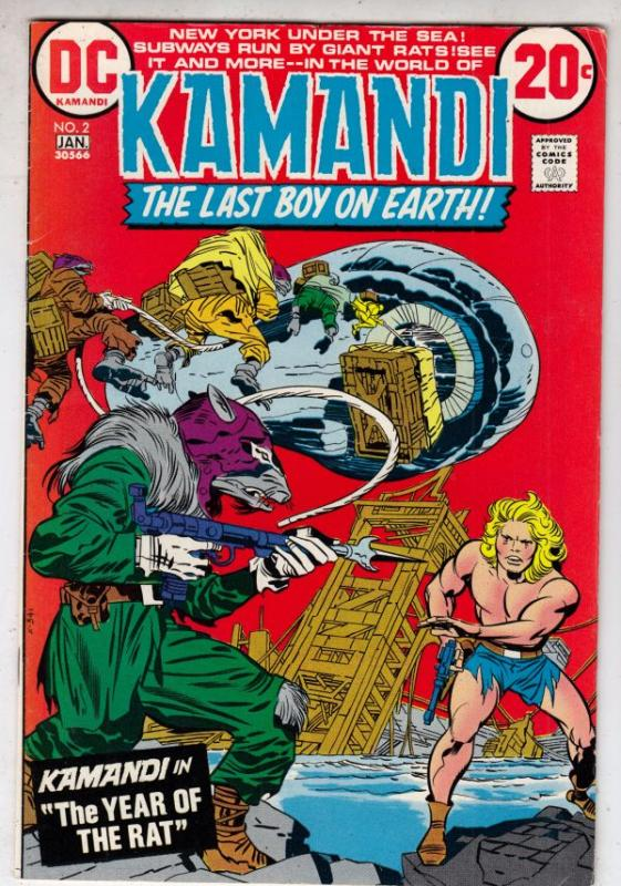 Kamandi the Last Boy on Earth #2 (Jan-73) FN/VF Mid-High-Grade Kamandi