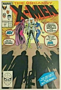 UNCANNY X-MEN#244 VF/NM 1989 FIRST JUBILEE MARVEL COMICS