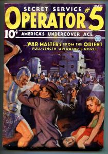 Operator #5 3/1936-Popular-hero pulp-WAR-MASTERS FROM THE ORIENT