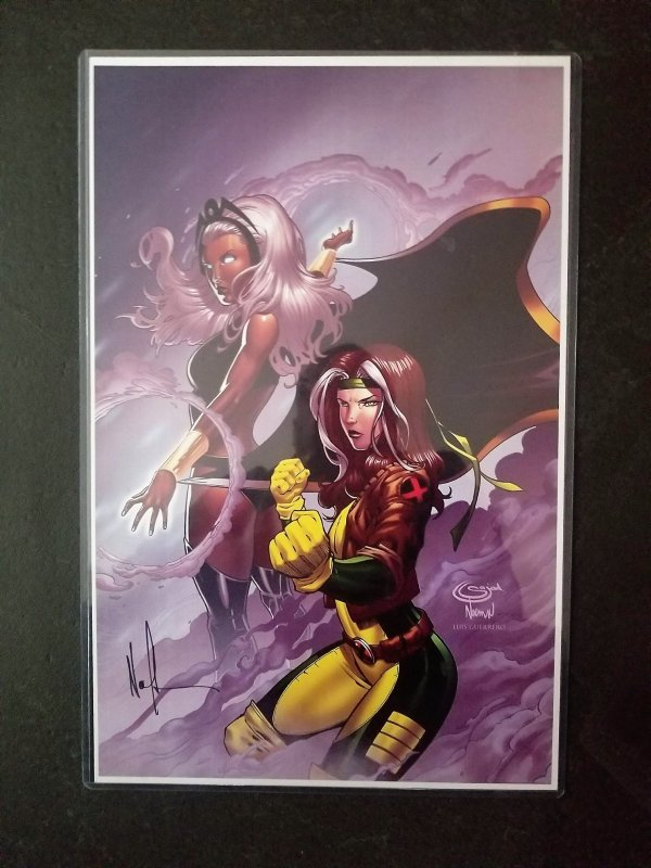 Storm & Rogue-Mint Condition 11 x 17 print signed by Norman Lee