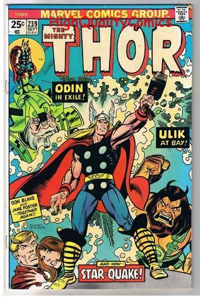 THOR #239, FN+, God of Thunder, Buscema, Troll Ulik,1966, more Thor in store