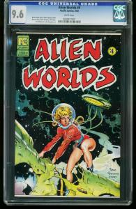 ALIEN WORLDS #4 1983 - CGC 9.6 WHITE PAGES - DAVE STEVENS 0005917001