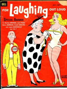 For Laughing Out Loud #16 7/1960-Dell-Berry-wacky cartoons-jokes-Sinatra-VG-