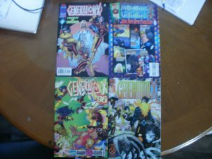 4 Marvel GENERATION X Comic: #1 #24 '96 Annual #4 Holiday Spectacular with Card
