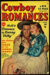Cowboy Romance #23 1950- Wild Violent photo cover- Marvel Golden Age Western VG-