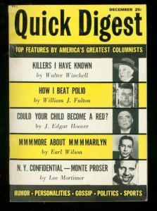QUICK DIGEST  #1 1954-WALTER WINCHELL-J EDGAR HOOVER- FN/VF