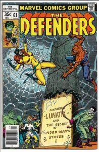 The Defenders #61 - Bronze Age - July, 1978 (VF)