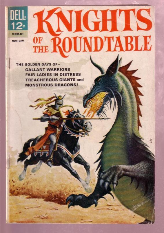 12 Knights Of The Round Table.Knights Of The Round Table 1 1964 Sir Lancelot Dell G Vg Hipcomic