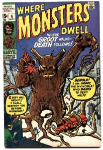 WHERE MONSTERS DWELL #6-FIRST GROOT-GOTG-HOT BOOK-vf-