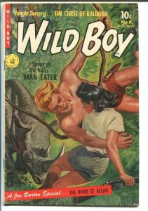 WILD BOY #8 1952-ZIFF-DAVIS-GERALD MC CANN-JUNGLE RESCUE COVER-vg