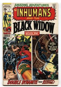 Amazing Adventures #1 1970- Inhumans -- Black Widow- Marvel Hot Book VG