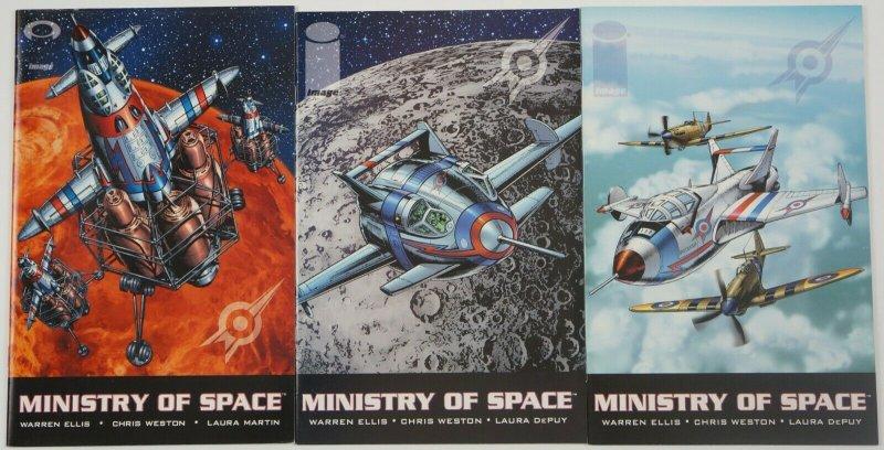 Ministry of Space #1-3 VF/NM complete series - warren ellis - image comics set 2