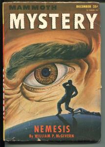 Mammoth Mystery 12/1946-eyeball cover-Malcolm Smith-Robert Fuqua-pulp fiction-VG