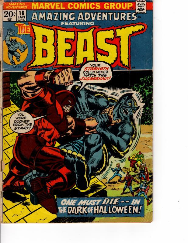 MARVEL Amazing Adventures (1970 Series) #16 JAN 1973 VG