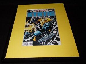 Shadow War Static #8 DC Framed 11x14 ORIGINAL Comic Book Cover