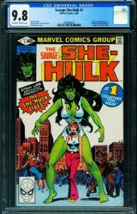 SAVAGE SHE-HULK #1 1980-CGC 9.8-1ST APPEARANCE 2039900002