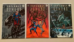 Superman vs Aliens set from:#1-3 all 3 different books 8.0 VF (1995)