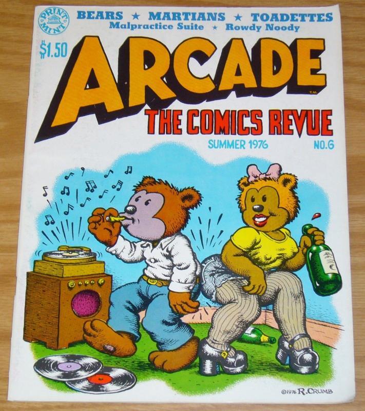 Arcade: the Comics Revue #6 VF- (1st) art spiegelman ROBERT CRUMB s clay wilson