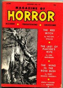 MAGAZINE OF HORROR-BIZARRE-GRUESOME-PULP-ROBERT E HOWARD-JAN 1968