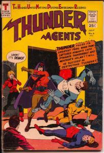 THUNDER Agents #6 1966-Tower-Dynamo-Warp Wizard origin-Wood-VG