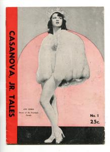 CASANOVA, JR. TALES #1-1940'-ANN CORIO-CHEESECAKE-PULP-SOUTHERN STATES-vg