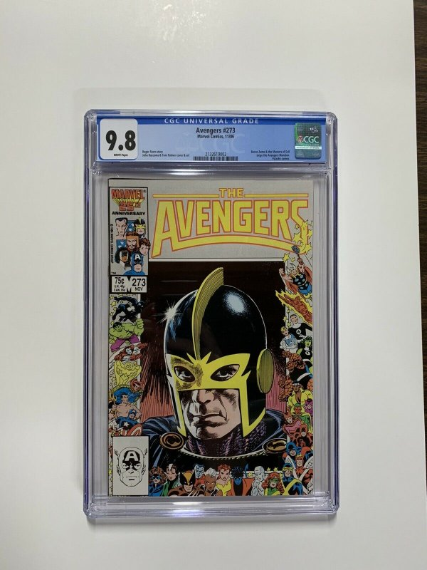 Avengers 273 Cgc 9.8 White Pages Black Knight Anniversary Cover Marvel