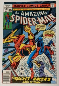Amazing Spider-Man #182 (Jul 1978, Marvel) VF- 7.5 Rocket Racer appearance