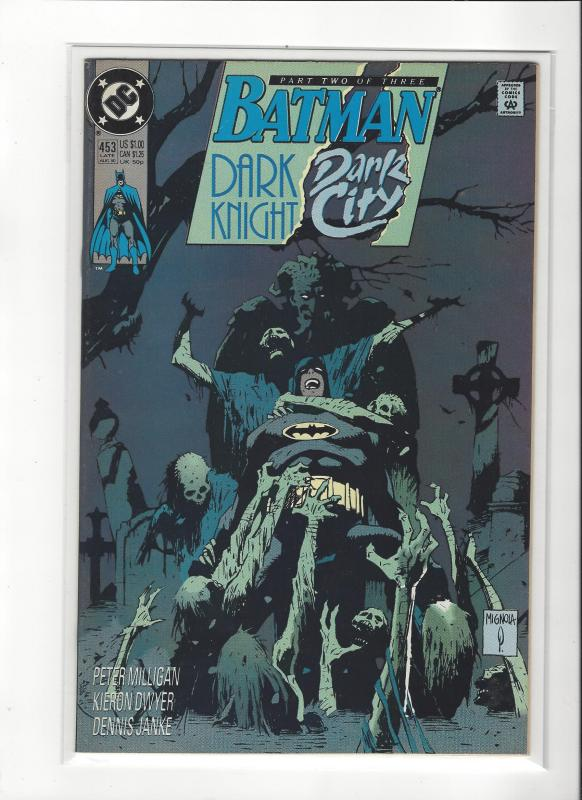 BATMAN #453 DARK KNIGHT DARK CITY  NM Nice Copy