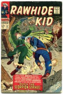 Rawhide Kid #57 1967- Marvel Western Silver Age- The Scorpion VG