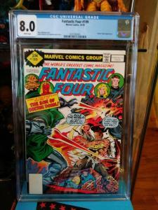 Fantastic Four #199 CGC 8.0 (1978) Dr Doctor Doom Whitman Variant