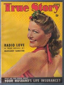 True Story 12/1941-Barbara Brewster-FDR-Fannie Hurst-exploitation-pulp thrills-V