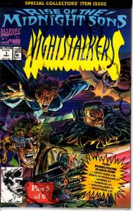 Lot Of 2 Marvel Comic Book Nightstalkers #1 and Darkhold #4 J192