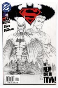 SUPERMAN/BATMAN #8-2ND PRINT-TURNER SKETCH VARIANT 2004