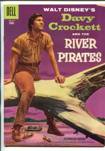 DAVY CROCKETT & THE RIVER PIRATES #671 1955-DELL-FOUR COLOR-FESS PARKER-vf minus