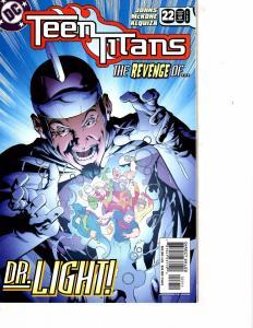 Lot Of 2 DC Comic Books Teen Titans #22 and Vertigo 100 Bullets #60  ON3