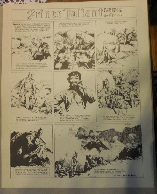 Prince Valiant by Hal Foster Syndicate Proof 12/1/1940 Size 16 x 20 inches