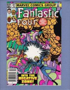 Fantastic Four #251 NM- Annihilus Marvel 1983
