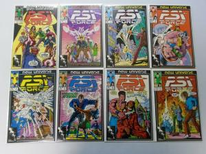 PSI Force Near Set, From:#1-32+Annual Missing:#26-31, 27 Diff 8.0/VF (1986-1989)