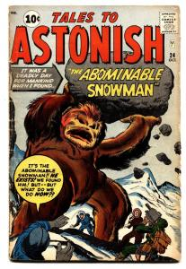 TALES TO ASTONISH #24 comic book 1961-MARVEL-JACK KIRBY-ABOMINABLE SNOWMAN