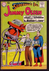 SUPERMAN'S PAL JIMMY OLSEN #47 1960 ROBOTIC PULP COVER VG/FN
