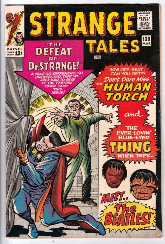 Strange Tales #130 (Mar-65) VF/NM High-Grade Human Torch, the Thing, Doctor S...
