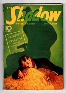 SHADOW 1938 Nov 15 -High Grade- STREET AND SMITH-RARE PULP VF-