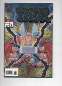THOR #475 VF/NM God of Thunder Foil cover 1966 1994, more Thor in store, Marvel