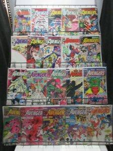 Avengers (Marvel 1983-92) Mini-Library Lot of 86Diff from #228-350 Super Battles