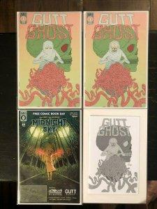 Gutt Ghost #1 *4 Book Lot* Cover A, Ashcan, Secret Skull & Sketch FCBD