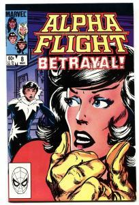 ALPHA FLIGHT #8-MARVEL COMICS-AURORA-JOHN BYRNE comic book  nm-