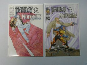Deathblow and Wolverine set #1+2 8.0 VF (1996 Image/Marvel)