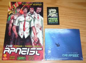 the Apneist #0 VF/NM comic based on a life of science + CD + business card